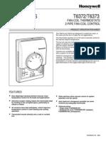 Termostat Ventiloconvector Honeywell T 6373 Sistem 2 Tevi Fisa Tehnica