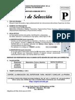 Preuniversitario_2011 2 Prueba de Seleccion