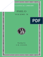 Philo Volume IX Every Good Man is Free on the Contemplative Life on the Eternity of the World Against Flaccus Apology for the Jews on Providenc