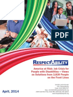 America at Risk- Job Crisis for People With Disabilities — Views on Solutions From 3839 People on the Front Lines