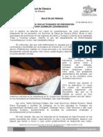 20/04/14 realiza Sso Actividades de Prevención Para Disminuir Leishmaniasis
