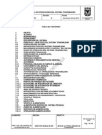 M-DO-001 Manual de Operaciones Sistema TransMilenio