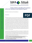 The Role of Mass Media in Building Perceptions of EU-GCC Relations and Related Impacts