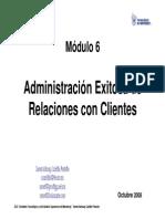 Modulo 6 Administracion de Relaciones Con Clientes Quito 2008 Itesm