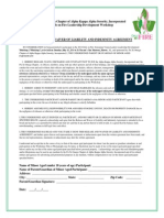 Release and Waiver of Liability and Indemnity Agreement