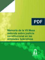 Justicia Constitucional en Las Entidades Federativas, Memoria_vii