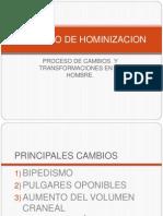 Proceso de Hominizacion