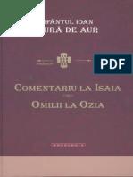 Sf Ioan Gura de Aur_Comentarii La Isaia. Omilii La Ozia