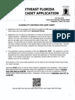 Camp Cadet Application 2014
