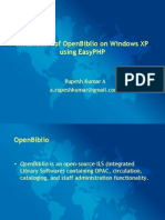 Installation of OpenBiblio on Windows XP using EasyPHP