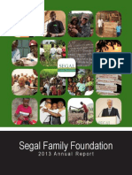 2013 Segal Family Foundation Annual Report