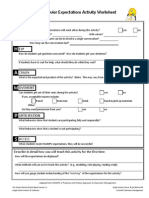 Classroom Behavior Activity Worksheet