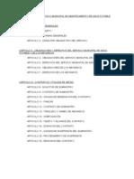 Reglamento Del Servicio Municipal de Abastecimiento de Agua Potable