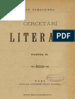 Cercetări Literare Vol. 2 - Ar. Densușianu