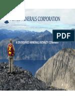 Altius Minerals - Investor Presentation - 2014