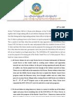 Knu/Knla peace council statement