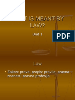 Unit 1 What is Meant by Laww