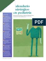 Calendario Quirúrgico en Pediatría