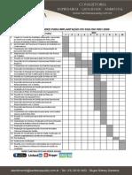 Cronograma Para Implantação ISO 9001 - 2