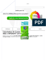 Calculadora de Cuotas IMSS e INFONAVIT 2014 _ Nomilinea
