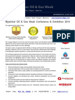 Myanmar Oil and Gas Week 2014 Full Programme
