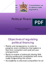Political Financing Political Financing