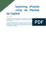 Commissioning de Plantas de Capital