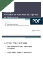 UNIDAD I Introducción a La Auditoria de Sistemas