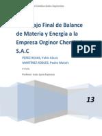 Informe de Balance y Materia