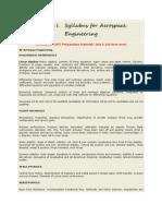 Syllabus for Aerospace Engineering