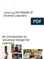 meeting the needs of diverse learners udl slides