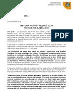 UPR Y CASA PUEBLO DE ADJUNTAS SELLAN  ACUERDO DE COLABORACION
