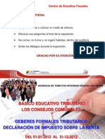 Deberes Formales Y Declaración en Linea 01-01-2013