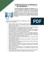 La Constitución Política de La República de Guatemala y Decretos y Resoluciones Del Gobierno