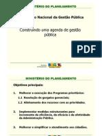Construindo uma Agenda de Gestão Pública
