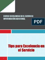 Curso Excelencia en El Servicio- Adicionales