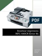 Impresoras Brother Mfc440cn Error46