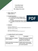 grammar lesson- helping verbs