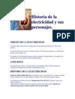 Historia de La Electricidad y Sus Personajes