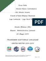 Programa Elettorale Coalizione Piovani Sindaco