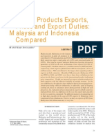 Palm Oil Products Exports, Prices and Export Duties