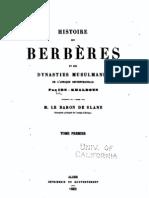 Histoire des Berbères 1/4, par Ibn Khaldoun