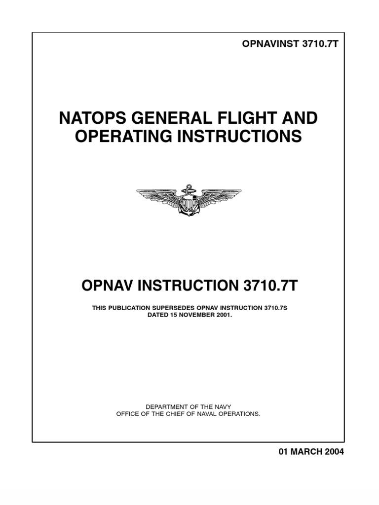 opnavinst 3710 7t united states navy aviation