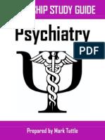 Psychiatry Clerkship Study Guide