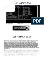 Wi-Fi H4CK 2014  LATEST TOOL