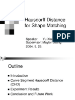 [2004] - Hausdorff Distance for Shape Matching