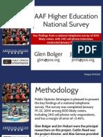 AAF Higher Education National Survey