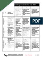 final analytic rubric descriptive