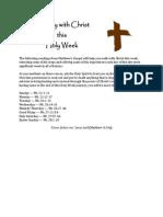 Holy Week Readings
