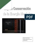 Ley de Conservación de La Energía Mecánica